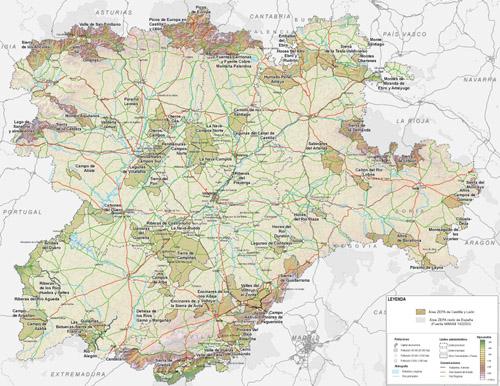 Mapa De Castilla Y Leon  threeblindantscom